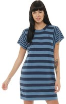 Fred Perry Womens Multi Scale Stripe Knit Dress Faded Navy Marl
