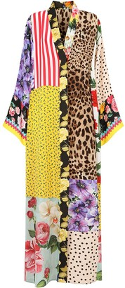 Dolce & Gabbana multi-panel V-neck dress