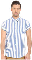 Scotch & Soda Short Sleeve Shirt in Open Weave with Contrast Inside