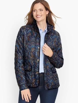 Talbots Paisley Quilted Jacket