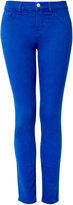 Bright Royale Blue Mid Rise Skinny Jean