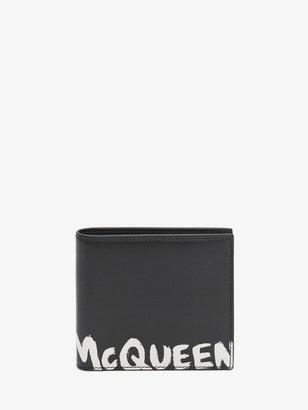 Alexander McQueen McQueen Graffiti Billfold Wallet