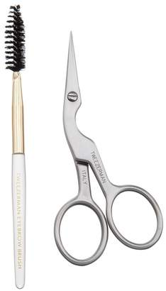 Tweezerman Two-Piece Brow Shaping Scissors and Brush Set