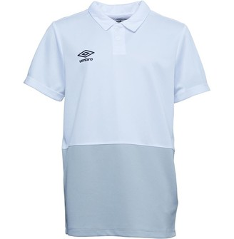 Umbro Junior Boys Training Poly Polo White/High Rise
