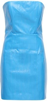 Rotate by Birger Christensen Herla Strapless Faux Leather Mini Dress