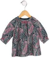 Bonpoint Girls' Paisley Print Long Sleeve Top