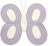 Tadpoles Butterfly-Shaped Braided Rug - Lavender