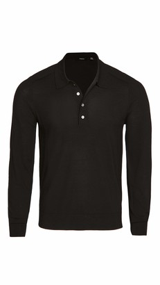 Theory Mens Merino Wool Ls Button Polo