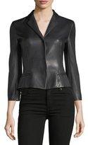 Narciso Rodriguez Bracelet-Sleeve Snap-Front Jacket