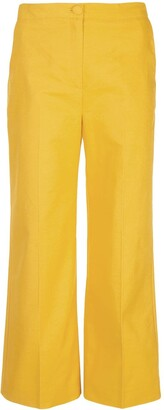 ALEXACHUNG Cropped Wide Leg Trousers
