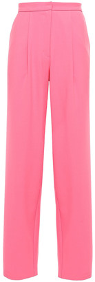 Chinti and Parker Pleated Twill Wide-leg Pants