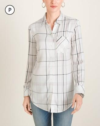 Chico's Chicos Petite Plaid Shirt