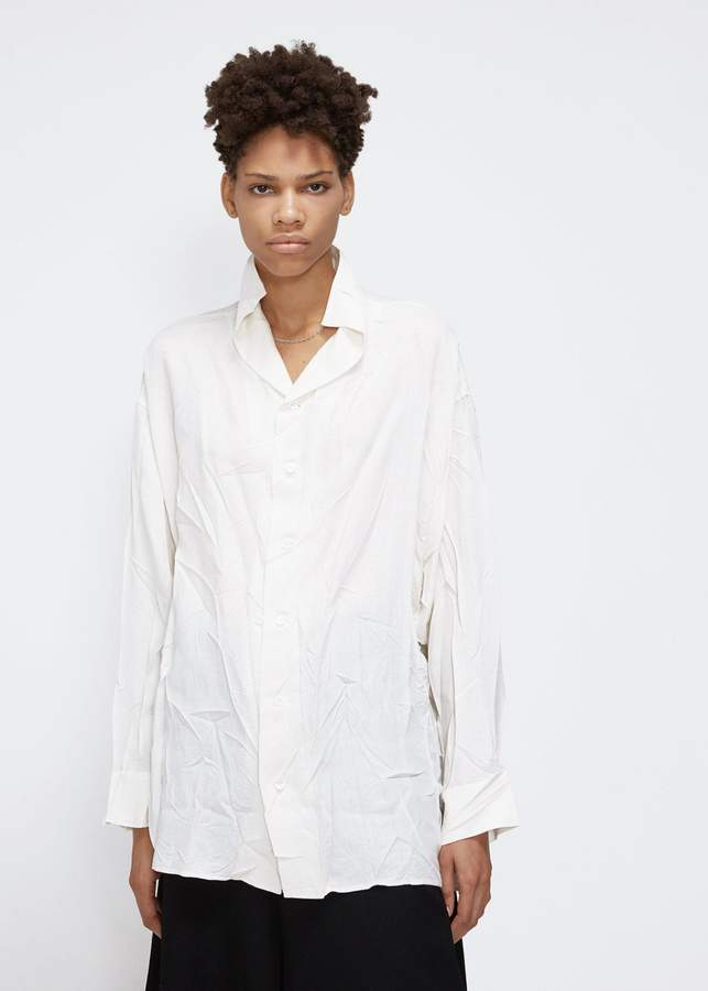Yohji Yamamoto Y's by Cut Out Stand Collar Blouse