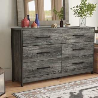 Loon Peak Fuller 6 Drawer Double Dresser Loon Peak Color: Brown