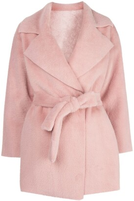 Apparis Marine faux fur reversible wrap jacket