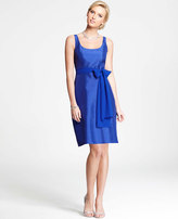 Ann Taylor Silk Dupioni Scoop Neck Dress