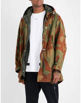 Off-White Camouflage cotton parka coat