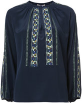 Vanessa Bruno floral embroidered panels blouse
