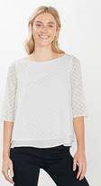 Esprit Chiffon T-shirt blouse in a burnt-out look