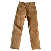 Simon Miller Orange Cotton Trousers