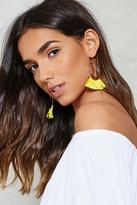 Nasty Gal nastygal Jump Through Hoops Fringe Earrings