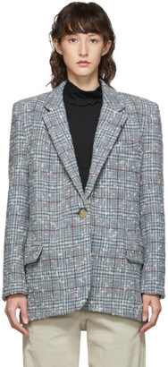 Etoile Isabel Marant Grey and Blue Wool Korix Blazer