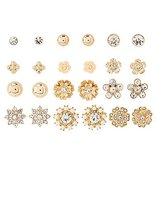 Charlotte Russe Embellished Stud Earrings -12 Pack