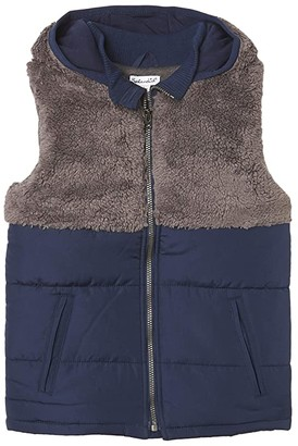 Splendid Littles Sherpa Hooded Vest (Toddler/Little Kids/Big Kids) (Light Gray Heather) Boy's Clothing
