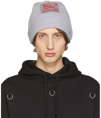 Raf Simons Grey Virgin Wool and Cashmere Heroes Beanie