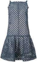 Oscar de la Renta perforated denim dress