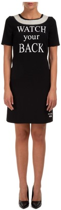 Moschino Watch Your Back Printed T-Shirt Dress