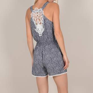 Molly Bracken Playsuit with Narrow Straps and Lacy Back