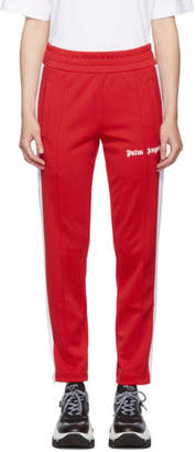 Palm Angels Red and White Slim Lounge Pants