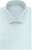 Calvin Klein STEEL Men's Classic/Regular Fit Non-Iron Performance Aqua Print Dress Shirt