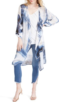 Nic+Zoe Abstract Grid Linen Jacket