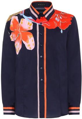 Etro Floral stretch-cotton blouse
