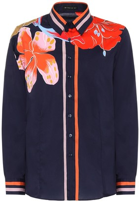 Etro Floral stretch-cotton blouse