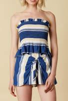 Cotton Candy Stripe Short Set