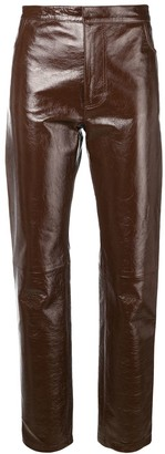 Ami Patent Leather Pants