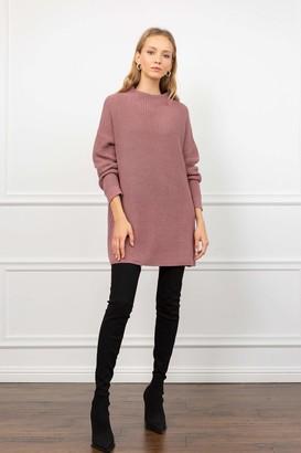 J.ING Mindy Mauve Knit Sweater Dress