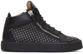 Giuseppe Zanotti Black Studded London High-top Sneakers