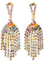 Tom Binns A Riot of Colour Fringe Earring