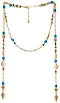 Rachel Roy Gold-Tone Beaded Wrap Necklace