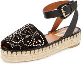 Valentino Women's Studded Butterfly Suede Espadrille