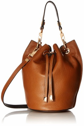 Luana Italy Women's Carla Mini Bucket Chestnut Ebony