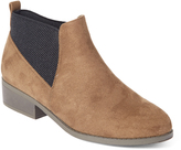 Wild Diva Taupe Eve Chelsea Boot