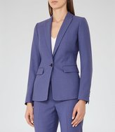 Reiss Verso Jacket - Single-breasted Blazer in Blue, Womens