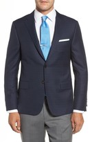 Hickey Freeman Men's Beacon Classic Fit Check Wool Sport Coat