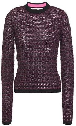 McQ Open-knit Cotton-blend Sweater