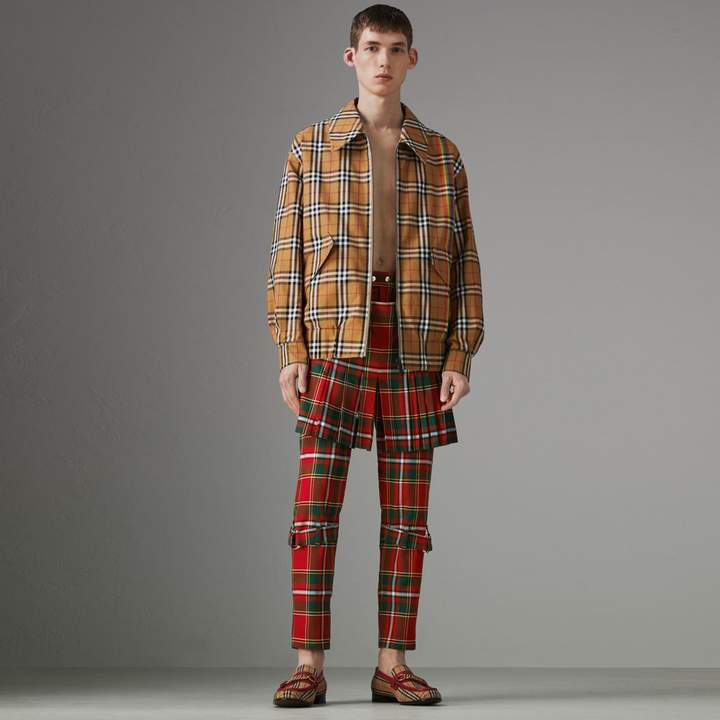 Burberry Modern Stewart Royal Tartan Punk Trousers